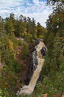 Big Manitou Falls. Located in Douglas County, a part of Pattison State park, just south of Superior, is the highest waterfall in Wisconsin and is the fourth highest east of the Rockies, dropping 165 ft.
