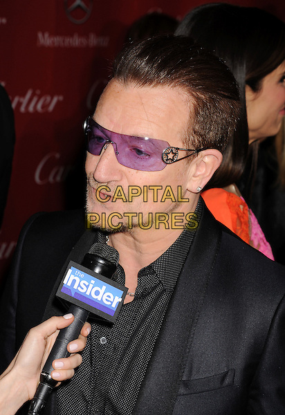 PALM SPRINGS, CA- JANUARY 04: Musician Bono of U2 arrives at the 25th Annual Palm Springs International Film Festival Awards Gala at Palm Springs Convention Center on January 4, 2014 in Palm Springs, California.<br /> CAP/ROT/TM<br /> &copy;Tony Michaels/Roth Stock/Capital Pictures