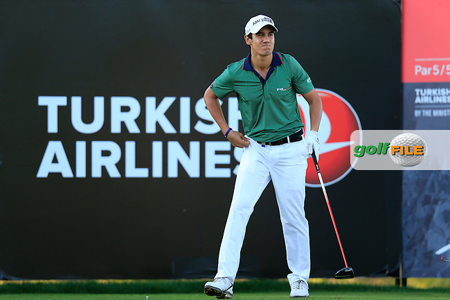 Matteo MANASSERO (ITA) during round 2 of the Turkish Airlines Open presented by the Ministry of Tourism and Culture, hosted at the The Montgomerie Maxx Royal,Antalya,Turkey.<br /> Picture: Fran Caffrey www.golffile.ie