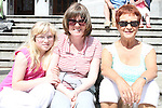 Aisling and Carol Butler with Marian McGrath at the Food Festival on West Street....Picture Jenny Matthews/Newsfile.ie