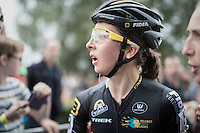 Jolien Verschueren (BEL/Telenet-Fidea) after finishing 2nd<br /> <br /> Brico-cross Geraardsbergen 2016