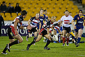 Tanner Vili looks to grupper past the Otago defensive line. Air New Zealand Cup rugby game played at Mt Smart Stadium, Auckland, between Counties Manukau Steelers & Otago on Thursday August 21st 2008..Otago won 22 - 8 after leading 12 - 8 at halftime.