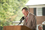 Thursday, May 31, Charlotte, North Carolina. Dedication ceremony for the new Billy Graham Library in Charlotte, North Carolina.. Former president George HW Bush was the keynote speaker and teared up at several occasions while speaking of Billy Graham.
