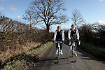 ENGLAND - JANUARY 19:  Triathletes Allistair and Jonathan Brownlee of the Great Britain riding the countryside on January 19, 2012 in Great Britain  (Photo by Donald Miralle) *** Local Caption ***