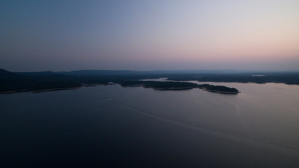 Lake Ouachita, Arkansas is pictured from the air on Monday, Sept. 4, 2017. (Photo by James Brosher)