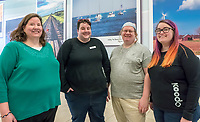 Members of the Sarnia Pride and Transgender Association, are from left; Rose Druiett, Rachel Dawson and Kendra Druiett and Jessica Baker.<br /> <br /> Absent are Taylor Leduc, Brooke Harold, Richard Renaud, Laura Baker, Meghan Cunningham and Lila Palychuk.