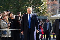 NOV 08 United States President Donald J. Trump Departs for Marietta Georgia