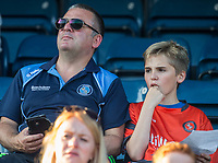 Wycombe supporters ahead of the pre season friendly 'Cherry Red Records Cup' match between Wycombe Wanderers and AFC Wimbledon at Adams Park, High Wycombe, England on 25 July 2017. Photo by PRiME Media Images.