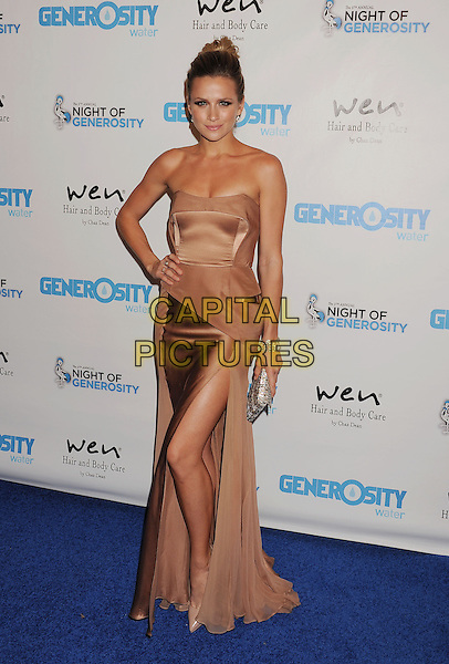 Shantel VanSanten<br /> Generosity Water's 5th Annual Night Of Generosity Benefit Held at the Beverly Hills Hotel, Beverly Hills, California, USA,<br /> 6th September 2013.<br /> full length rose gold beige nude strapless dress long maxi hand on hip <br /> CAP/ROT/TM<br /> &copy;TM/Roth Stock/Capital Pictures