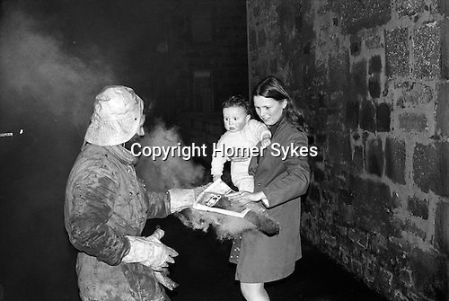 Burning the Clavie. Burghead, Grampian 1975. <br />