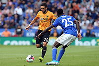 Joao Moutinho of Wolverhampton Wanderers and Wilfred Ndidi of Leicester City during Leicester City vs Wolverhampton Wanderers, Premier League Football at the King Power Stadium on 11th August 2019