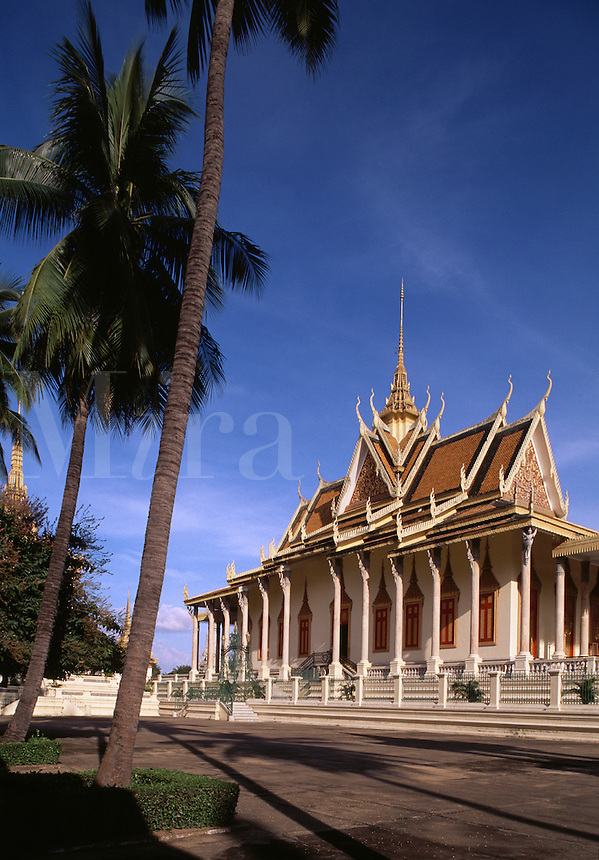 Silver pagoda at Royal Palace Phnom Penh Cambodia.