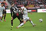 03.11.2018, BayArena, Leverkusen, GER, 1. FBL,  Bayer 04 Leverkusen vs. TSV 1899 Hoffenheim,<br />  <br /> DFL regulations prohibit any use of photographs as image sequences and/or quasi-video<br /> <br /> im Bild / picture shows: <br /> Nadiem Amiri (Hoffenheim #18),   im Zweikampf gegen  Mitchell Weiser (Leverkusen #23), Karim Bellarabi (Leverkusen #38), <br /> Foto &copy; nordphoto / Meuter