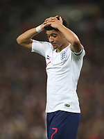 England's Jadon Sancho<br /> <br /> Photographer Rob Newell/CameraSport<br /> <br /> UEFA Euro 2020 Qualifying round - Group A - England v Czech Republic - Friday 22nd March 2019 - Wembley Stadium - London<br /> <br /> World Copyright © 2019 CameraSport. All rights reserved. 43 Linden Ave. Countesthorpe. Leicester. England. LE8 5PG - Tel: +44 (0) 116 277 4147 - admin@camerasport.com - www.camerasport.com