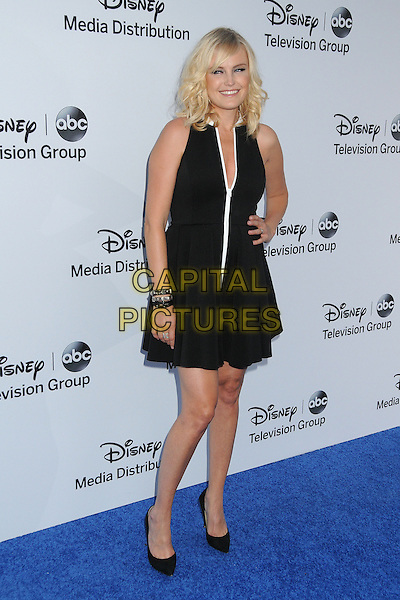Malin Akerman.Disney Media Networks International Upfronts 2013 held at Walt Disney Studios, Burbank, California, USA..May 19th, 2013.full length black dress hand on hip sleeveless white zip zipper .CAP/ADM/BP.©Byron Purvis/AdMedia/Capital Pictures
