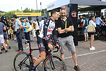 Ben Swift (GBR) UAE Team Emirates in the Tour Village in Mondorf-les-Bains before the start of Stage 4 of the 104th edition of the Tour de France 2017, running 207.5km from Mondorf-les-Bains, Luxembourg to Vittel, France. 4th July 2017.<br /> Picture: Eoin Clarke | Cyclefile<br /> <br /> <br /> All photos usage must carry mandatory copyright credit (&copy; Cyclefile | Eoin Clarke)