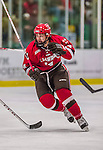 14 December 2013: Saint Lawrence University Saint Forward Alexander Dahl, a Freshman from Eau Claire, WI, in third period action against the University of Vermont Catamounts at Gutterson Fieldhouse in Burlington, Vermont. The Catamounts defeated their former ECAC rivals, 5-1 to notch their 5th straight win in NCAA non-divisional play. Mandatory Credit: Ed Wolfstein Photo *** RAW (NEF) Image File Available ***