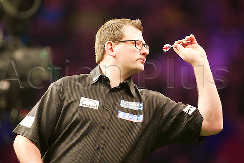 2.04.2015.  Manchester, England. Betway Premier League Darts. Judgement Night. 2014 Master Champion James Wade.