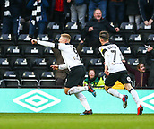 9th February 2019, Pride Park, Derby, England; EFL Championship football, Derby Country versus Hull City; Martyn Waghorn of Derby County runs to celebrate his goal in the 41st minute to make it 1-0