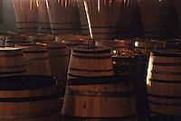 Europe/France/Poitou-Charentes/16/Charente/Cognac : Tonnellerie Seguin Moreau - Stock de barriques en construction<br /> PHOTO D'ARCHIVES // ARCHIVAL IMAGES<br /> FRANCE 1990
