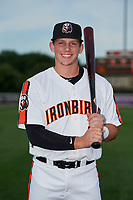Aberdeen IronBirds Adley Rutschman (35) poses for a photo before a NY-Penn League game against the Vermont Lake Monsters on August 19, 2019 at Leidos Field at Ripken Stadium in Aberdeen, Maryland.  Aberdeen defeated Vermont 6-2.  (Mike Janes/Four Seam Images)