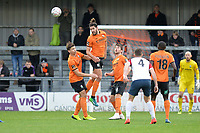 Dan Sweeney Of Barnet heads clear during Barnet vs Stockport County, Emirates FA Cup Football at the Hive Stadium on 2nd December 2018