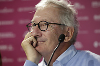 Chairman Franck Riboud at the opening press conference during Wednesday's Pro-Am Day of The Evian Championship 2017, the final Major of the ladies season, held at Evian Resort Golf Club, Evian-les-Bains, France. 13th September 2017.<br /> Picture: Eoin Clarke | Golffile<br /> <br /> <br /> All photos usage must carry mandatory copyright credit (&copy; Golffile | Eoin Clarke)