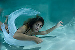 Young girl in pool, black bikini, underwater photography, underwater Model. Alexa Smith
