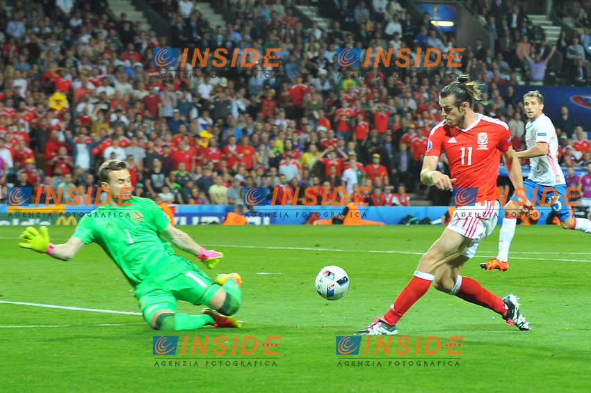 11 GARETH BALE (wal) - Gol <br /> Toulouse 20-06-2016 Stade de Toulouse Football Euro2016 Russia - Wales / Russia - Galles Group Stage Group B. Foto Philippe LECOEUR / Panoramic / Insidefoto