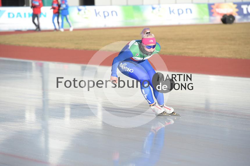 SPEED SKATING: COLLALBO: Arena Ritten, 10-01-2019, ISU European Speed Skating Championships, Francesca Lollobrigida (ITA), ©photo Martin de Jong