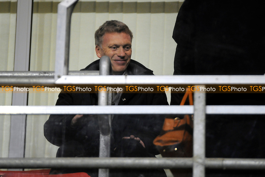 Manchester United first team manager David Moyes attended the match - Manchester United Under-19 vs Shaktar Donetsk Under-19- UEFA Youth League Football at Leigh Sports Village - 09/12/13 - MANDATORY CREDIT: Greig Bertram/TGSPHOTO - Self billing applies where appropriate - 0845 094 6026 - contact@tgsphoto.co.uk - NO UNPAID USE