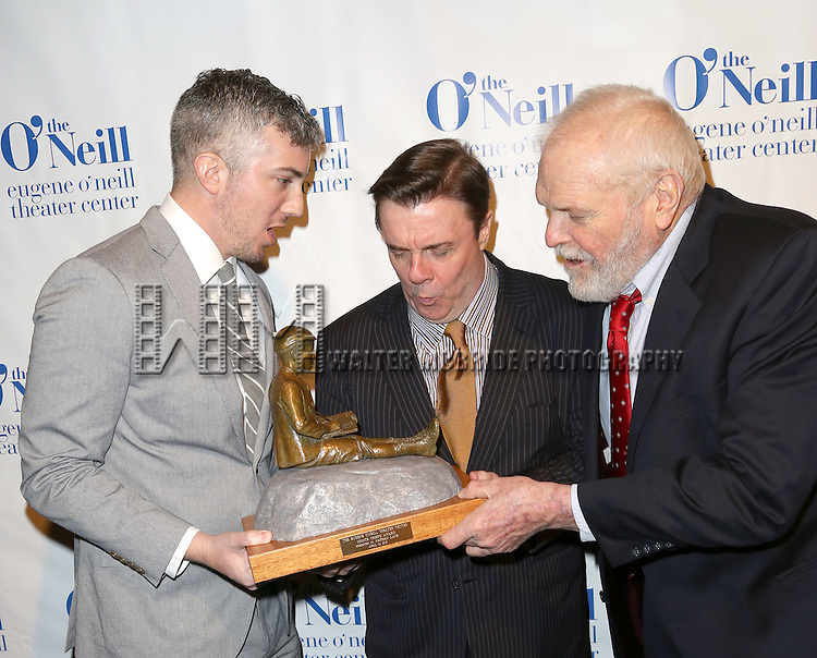 Execurive Director Preston Whiteway, Nathan Lane and Brian Dennehy attend The Eugene O'Neill Theatre Center's 15th Annual Monte Cristo Award honoring Nathan Lane at The Edison Ballroom on April 13, 2015 in New York City.