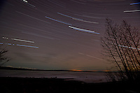 Skilak Lake star trails