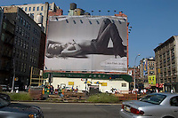 A Calvin Klein billboard in Soho in NYC.
