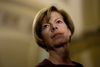 United States Senator Tammy Baldwin (Democrat of Wisconsin) speaks at a press conference following weekly policy luncheons on Capitol Hill in Washington D.C., U.S. on July 30, 2019. Credit: Stefani Reynolds/CNP/AdMedia