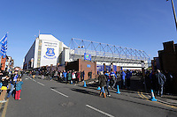 Pictured: Goodison Road outside Godisson Park stadium. Sunday 16 February 2014<br />
