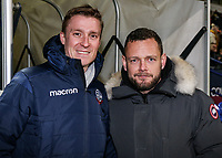Former Bolton Wanderers' players Stephen Darby and  Jay Spearing <br /> <br /> Photographer Andrew Kearns/CameraSport<br /> <br /> The EFL Sky Bet Championship - Bolton Wanderers v West Bromwich Albion - Monday 21st January 2019 - University of Bolton Stadium - Bolton<br /> <br /> World Copyright © 2019 CameraSport. All rights reserved. 43 Linden Ave. Countesthorpe. Leicester. England. LE8 5PG - Tel: +44 (0) 116 277 4147 - admin@camerasport.com - www.camerasport.com