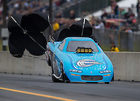 Oct 2, 2016; Mohnton, PA, USA; NHRA top alcohol funny car driver XXXX during the Dodge Nationals at Maple Grove Raceway. Mandatory Credit: Mark J. Rebilas-USA TODAY Sports