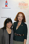 Ann Harada & Harriett Harris (Desperate Housewives) at the 27th Annual Broadway Flea Market & Grand Auction to benefit Broadway Cares/Equity Fights Aids in Shubert Alley, New York City, New York.  (Photo by Sue Coflin/Max Photos)