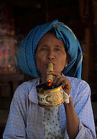 Daw Aye Than a 65 year old women from the traditional Minnanthu Village near Bagan, Myanmar/Burma
