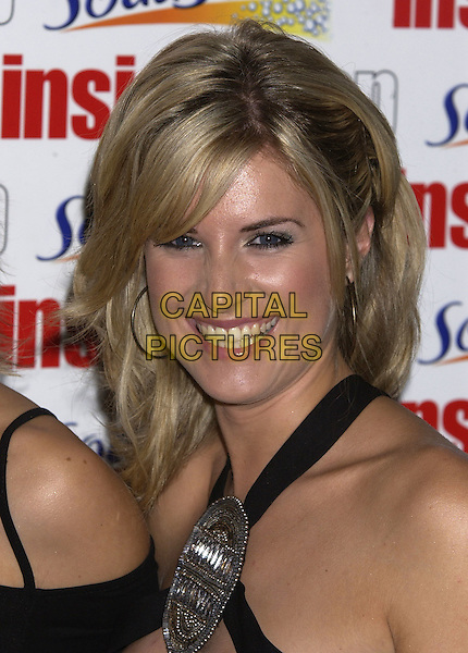 SARAH DUNN.Inside Soap Awards Party, La Rascasse, Cafe Grand Prix, London, September 27th 2004..portrait headshot hoop earrings.Ref: PL.www.capitalpictures.com.sales@capitalpictures.com.©Capital Pictures.