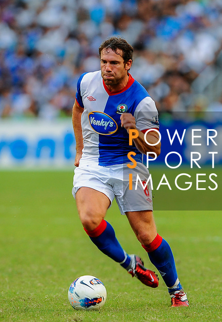 David Dunn of Blackburn Rovers in action against Kitchee FC during the Asia Trophy pre-season friendly match at the Hong Kong Stadium on July 30, 2011 in So Kon Po, Hong Kong. Photo by Victor Fraile / The Power of Sport Images