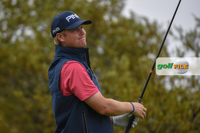 Trey Mullinax (USA) watches his tee shot on 10 during day 3 of the Valero Texas Open, at the TPC San Antonio Oaks Course, San Antonio, Texas, USA. 4/6/2019.<br /> Picture: Golffile | Ken Murray<br /> <br /> <br /> All photo usage must carry mandatory copyright credit (© Golffile | Ken Murray)