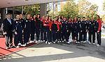 ODBOJKA, BEOGRAD, 21. Oct. 2010. - Seniorska reprezentacija Srbije. Odbojkasice  Srbije otisle su danas u Kinu gde ce se pripremati za XVI SP 2010 koje se odigrava u Japanu. Foto: Nenad Negovanovic