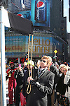 Barry Manilow unveils the new street sign 'Manilow Way' on West 44th Street in a renaming ceremony celebrating 'Manilow on Broadway' at the St. James Theatre in New York City on 1/22/2013