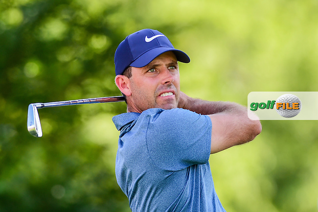 Charl Schwartzel (ZAF) watches his tee shot on 7 during the round 2 of the Dean &amp; Deluca Invitational,  Colonial Country Club, Ft. Worth, Texas, USA. 5/27/2016.<br /> Picture: Golffile | Ken Murray<br /> <br /> <br /> All photo usage must carry mandatory copyright credit (&copy; Golffile | Ken Murray)