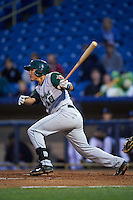 Fort Wayne TinCaps outfielder Nick Torres (10) at bat during a game against the Lake County Captains on May 20, 2015 at Classic Park in Eastlake, Ohio.  Lake County defeated Fort Wayne 4-3.  (Mike Janes/Four Seam Images)