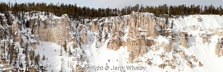 Winter, Grand Canyon of the Yellowstone, Yellowstone NP, WY