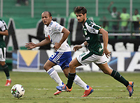 PALMIRA - COLOMBIA, 03-03-2019: Matias Cabrera del Cali en acción durante el partido por la fecha 8 de la Liga Águila I 2019 entre Deportivo Cali y Millonarios jugado en el estadio Deportivo Cali de la ciudad de Palmira. / Matias Cabrera of Cali in action during the Final second leg match between Deportivo Cali and Millonarios as parto of Aguila League I 2019 played at Deportivo Cali stadium in Palmira city.  Photo: VizzorImage / Gabriel Aponte / Staff