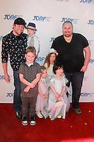 Bill Horn, Scout Masterson with Tori Spelllings kids<br /> at Disney's &quot;Cinderella&quot; Advance Screening, Disney Main Theater, Burbank, CA 03-08-15<br /> David Edwards/DailyCeleb.com 818-249-4998